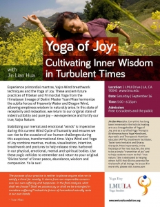 Yoga of Joy: Cultivating Inner Wisdom in Turbulent Times with Jin Lian Hua